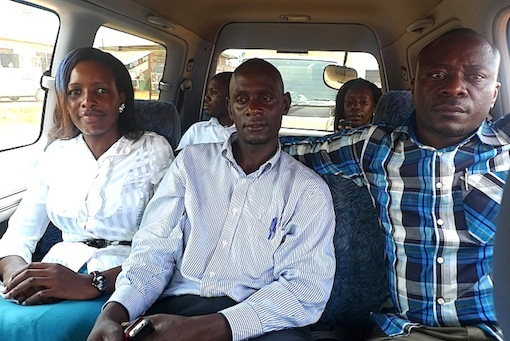 The Uganda opposition in my car.