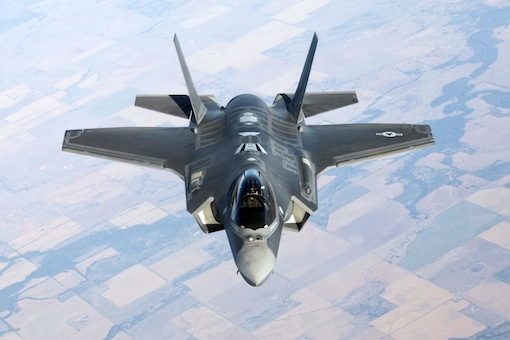 F-35 Lightning in flight.